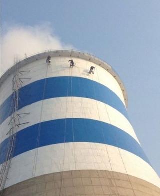 廣西冷卻塔粉刷